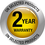 2 year selected warranty button Original
