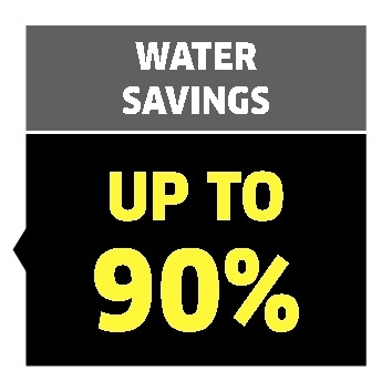 water savings up to 90