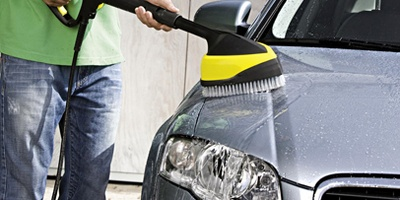 auto reinigen mit kaercher power brush